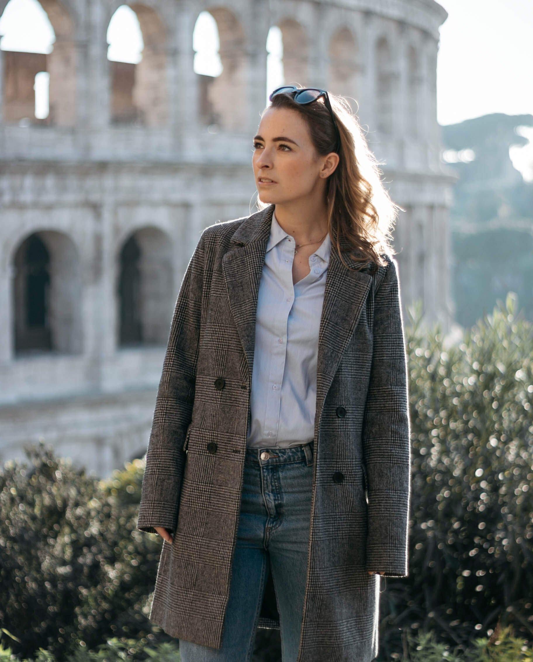 Mijn outfit bij het Colosseum in Rome