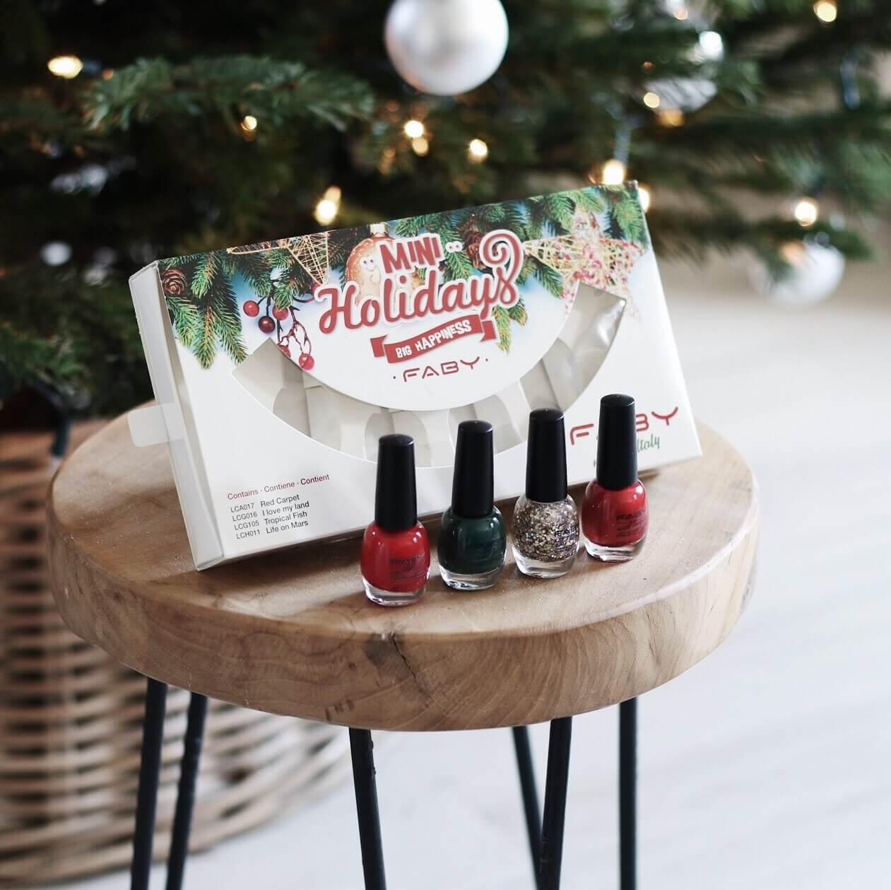 (GESLOTEN) Kerst winactie #2 – FABY mini holidays nagellak