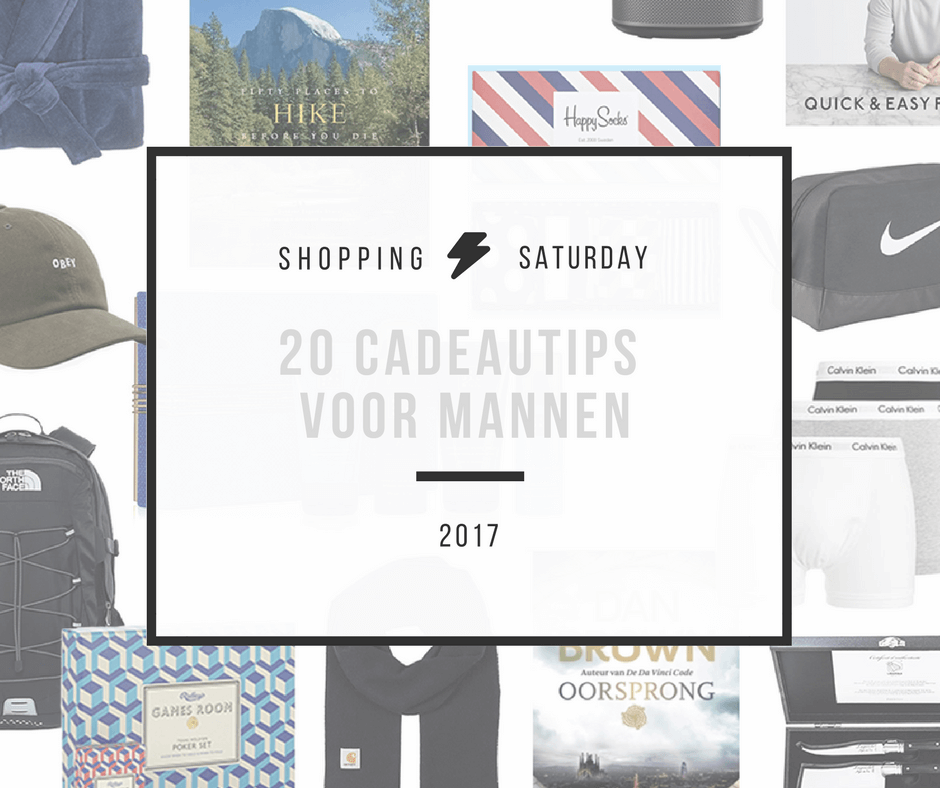 Shopping Saturday – 20 cadeautips voor mannen